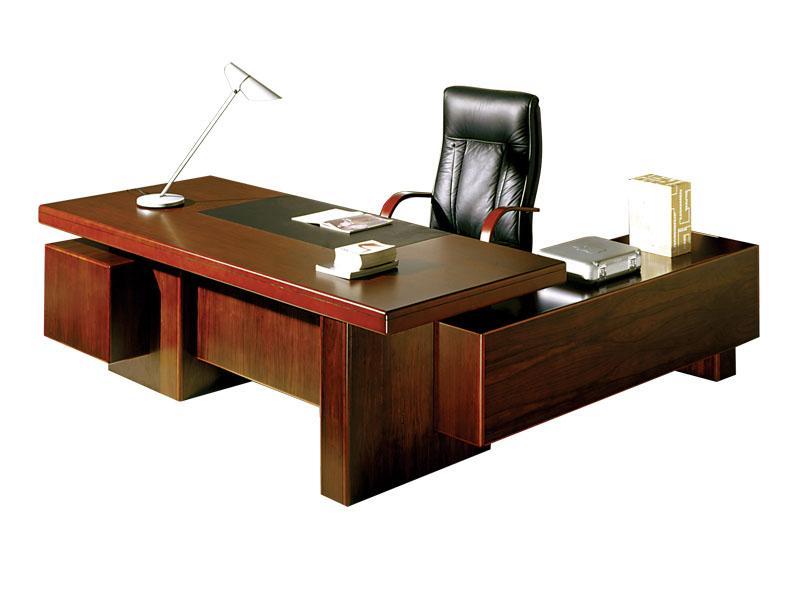 5205219 шен-жен: стол руководителя письменный левый (махагон.